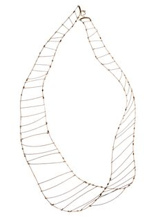 Meghan Patrice Riley, Mobius Strip Me. Nylon-coated steel, 14k gold fill.
