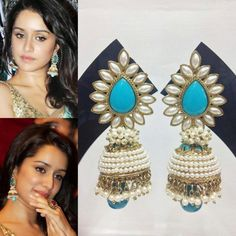 Elegant Fashion Wear: Exclusive Ashiqui 2 Earrings  Price :920/-  #shraddakapoor #ashique2 #earrings