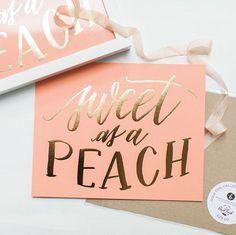 sweet as a peach.