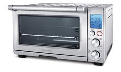AmazonSmile: Breville BOV800XL Smart Oven 1800-Watt Convection Toaster Oven with Element IQ Amazon $249.95 0.8-cubic-foot nonstick interior Element IQ technology for smarter control over the heat; 9 pre-set functions. Blue back-lit LCD screen turns orange during pre-heating. 5 quartz heating elements; user-friendly control panel; LCD screen; 3 rack positions Auto-eject wire rack; removable crumb tray; pizza pan, baking pan, and broil rack included;Measures 18-1/2 by 16-1/4 by 11-1/4 inches