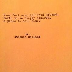 Stephen Millard original poem #259. Find Stephen on Instagram & on Etsy.