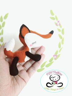 Dreamy Fox PDF sewing pattern-DIY-Little por LittleThingsToShare