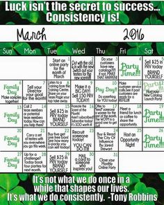 March Success Calendar! msheather.scentsy.us or email me Holli.gilbert87@yahoo.com #scentsy #wickless