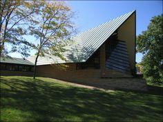 Unitarian church by Frank Lloyd Wright in Madison