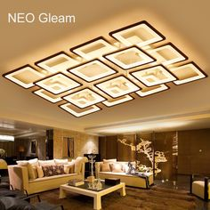 Lights & Lighting Ceiling Lights Expressive Modern Simple Dimmable Circle Led Chandelier Metal And Acrylic Luminarias Ceiling Chandelier Remote Control Led Llight Fixtures