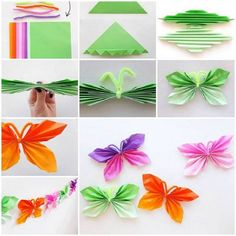 Here is a nice tutorial on how to easily fold DIY paper butterfly. A folded paper butterfly is really nice , easy, and fun to make. You searched for DIY Easy Folded Paper Butterflies - i Creative Ideas DIY Easy Folded Paper Butterflies, even children can Useful Origami, Origami Tutorial, Origami Easy, Origami Folding, Origami Paper, Paper Folding Crafts, Diy Paper, Paper Crafts, Tissue Paper