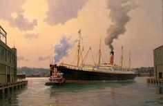 Carpathia by Stephen J. Card.  RMS Carpathia was a Cunard Line transatlantic passenger steamship built by Swan Hunter & Wigham Richardson. Carpathia made her maiden voyage in 1903 and became famous for rescuing the survivors of RMS Titanic after the latter ship hit an iceberg and sank on April 15, 1912. Carpathia herself was shot at and sunk in the Atlantic on July 17, 1918 during World War I by a German U-boat.