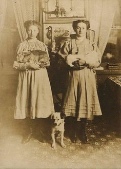 Victorian era farm women.  I think this is actually 1900's