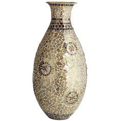 Mosaic Vase - Champagne & Gold