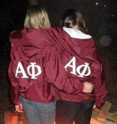 AΦ sisterhoodrain jackets!  I want