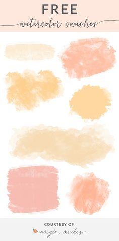 Enjoy This Collection of Free Girly Graphics and Watercolor Clip Art Courtesy of Angie Makes. These Cute, Girly Clip Art Images Are Totally FREE! Watercolor Logo, Watercolor Wedding Invitations, Wedding Invitation Design, Watercolor Background, Watercolor Brushes, Brush Background, Video Background, Watercolor Texture, Watercolor Design