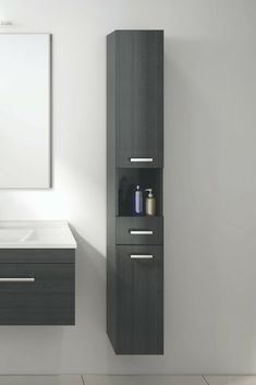 Azur Storage in charred oak Bathroom Storage Solutions