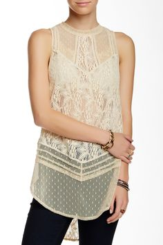 Modern Sheer Mesh Tunic by Free People on @nordstrom_rack