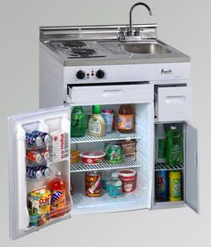Compact Kitchen With Refrigerator