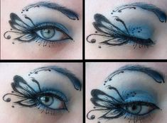 Butterfly Inspired Eye Makeup