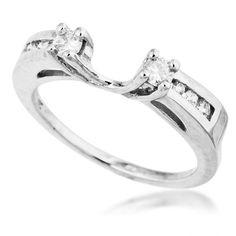 Ladies Diamond Wedding Wrap in White Gold -Price: $499