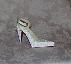 Couture Silver Foil High Heel Paper Shoe with by apreciousmemory