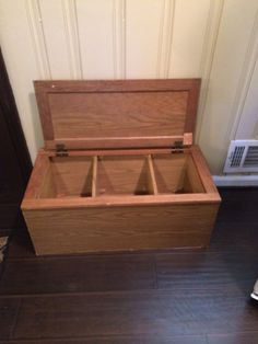 Kitchen cabinet into divided storage bench