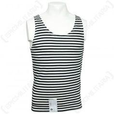 0b88c754181 Russian BLACK Stripe VEST Telnyashka Striped Vests