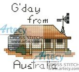 Gday Card Cross Stitch Pattern http://www.artecyshop.com/index.php?main_page=product_info&cPath=28&products_id=392