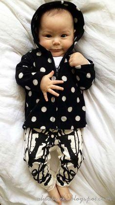 DIY inkblot style baby pants