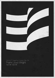 """""""Six Architects"""" es la serie de pósters arquitectónicos e icónicos de Andrea Gallo. Homenaje a los trabajos Frank Lloyd Wright, Le Corbusier, Louis Kahn,"""