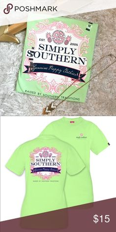 NWT Simply Southern Preppy Tshirt NWT Simply Southern Preppy Shirt. Perfect Condition. If you don't see your size just let me know and I'll see what I can do!  ➡️No Trades. ➡️No Lowball Offers. ➡️No Holds. ➡️Bundle and save! Simply Southern Tops Tees - Short Sleeve