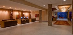 The front desk awaits to welcome your arrival!