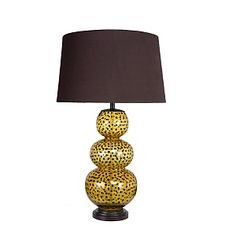 Living Room Table Lamp - lamp in a fun pattern.