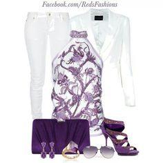 Purple snd white!!