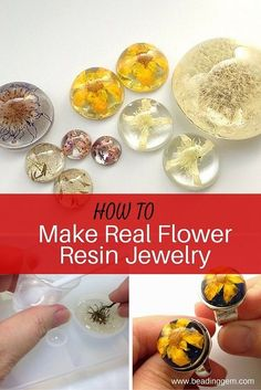 How to Make Real Flower Resin Jewelry ~ The Beading Gem's Journal: