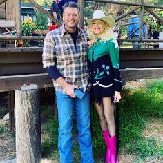 Blake Shelton Gwen Stefani, Blake Shelton And Gwen, Gwen Stefani And Blake, Gwen Stefani Instagram, Gwen And Blake, Secretly Married, Hollaback Girl, Gavin Rossdale, Pink Boots