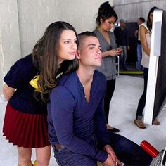 Lea Michele & Mark Salling from Glee