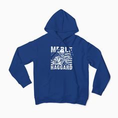 Merle Haggard Hoodie / Country Music / Waylon / Willie / Johnny Cash / Hand Screen Printed / Gift by cottonpickincrazy on Etsy Willie Nelson T Shirts, Johnny Cash, Country Music, Screen Printing, Great T Shirts, Classic T Shirts, Best Gifts, Allman Brothers, Country