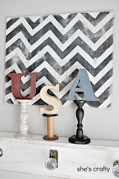 She's crafty: 4th of July Mantle