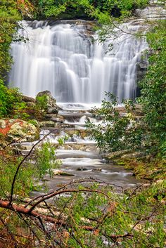 Photo about Meigs Falls flows in the beautiful landscape of Great Smoky Mountains National Park in Tennessee. Beautiful Waterfalls, Beautiful Landscapes, Places To Travel, Places To See, Smoky Mountain National Park, Smokey Mountain, Smoky Mtns, Les Cascades, Photos Voyages