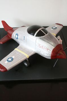 Birthday Cakes New Jersey - Red Tail P-51 Airplane Custom Cakes