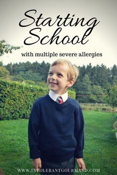 Starting School Callums 1st day - school with multiple severe allergies! It can be done!