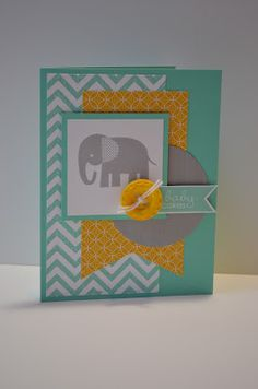 Paper, Pansies and Pachyderms: Mojo Monday #300 on Wednesday - Stampin' Up!, Zoo Babies, Simply Pressed Clay, Eastern Elegance dsp