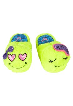 Emoji Slippers (original price, 14.99) available at #Justice