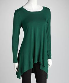 Take a look at this Green Sidetail Top by Miss Finch on #zulily today! $28 !!