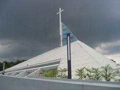 Church of the Gesù, Atenio de Manila University, a Jesuit institution in Quezon City, Philippines. (Mike Gonzalez)