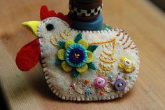 Cute felt hen/chicken
