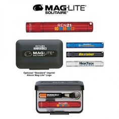"""Flashlight, 3-3/16"""" in length. Includes lanyard, 1-AAA battery. Packaged in black gift box. Spare bulb in tailcap."""