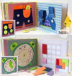 Children's Quiet Book, Busy Book, Eco friendly, Toddler activity book fine motor…