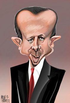Recep Tayyip Erdogan illustrated by Marian Avramescu