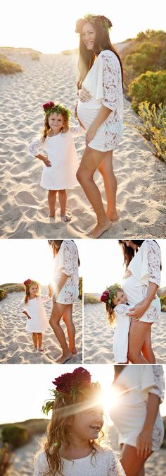 Beachy, Bohemian Maternity Shoot
