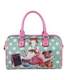 Look what I found on #zulily! Mint & Pink Cupcake Dog Satchel by Nicole Lee #zulilyfinds