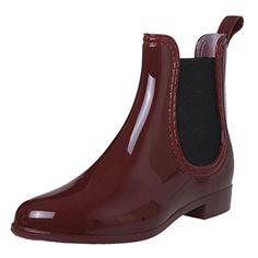 Chelsea Style Black PVC Waterproof Rain Boots Women Ankle Flat Heel Shoes QIYUN.Z http://www.amazon.com/dp/B016BI42AI/ref=cm_sw_r_pi_dp_Xe.uwb0YSET9E