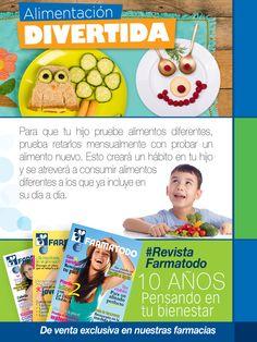 ¿Quieres animar a tu hijo a probar nuevos alimentos? Sigue esta recomendación. En nuestra #RevistaFarmatodo encontrarás más consejos para ti y tus hijos